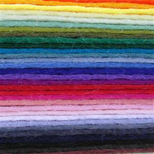 Soft Washable Assorted Colours Felt Pack: 50 Pieces (22cm x 22cm)