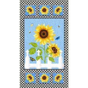 Sunny Sunflowers Solo Flower Panel 0.6m