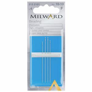 Hand Sewing Needles, Beading Nos 10-13 (4 Pieces)