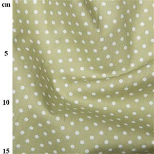 Rose and Hubble Cotton Poplin Spots on Green Fabric 0.5m