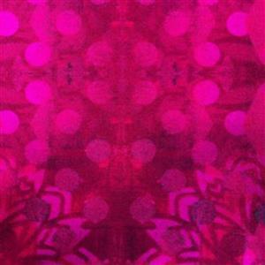 Pizzazz in Medallions Fuchsia Fabric 0.5m