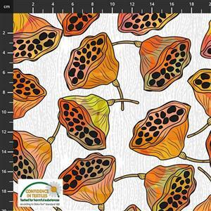 Medinilla Monkey Flowers Autumn Fabric 0.5m