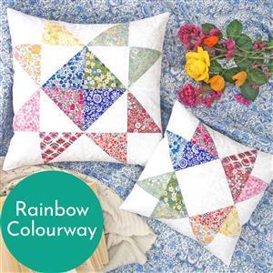 Alice Caroline Liberty Wiltshire Star Cushion Kit Rainbow (makes 2)