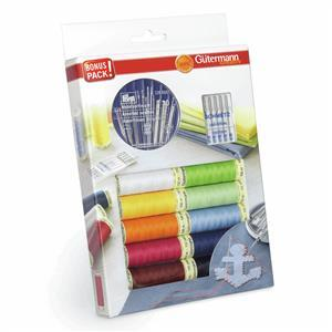 Gutermann 10 Thread Set with Hand & Machine Needles