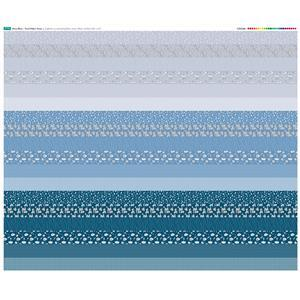 Misty Blue Design Roll Fabric Panel 140 x 123cm