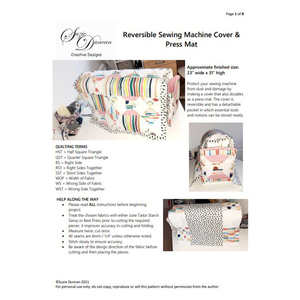 Suzie Duncans Sewing Machine Cover Instructions