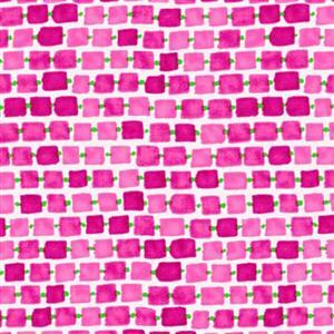 Whimsy Daisical in Pink Daisy Chain Fabric 0.5m