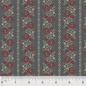 Kingston Floral on Steel Fabric 0.5m