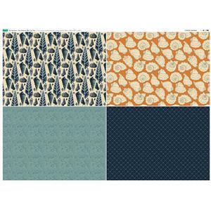 The Harbour 4 FQ's Fabric Panel 2. 140cm x 105cm. Exclusive