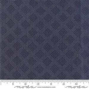 Moda 3 Sisters Memoirs Trellis Indigo Fabric 0.5m