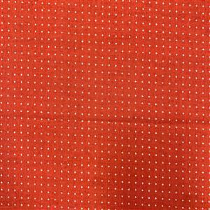 Miho Japanese Cross Print on Red Fabric 0.5m