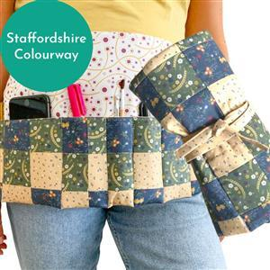 The Crafty Co's Staffordshire Apron Tool Roll Kit: Instructions & Fabric Panel