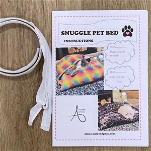 Allison Maryon's Instructions For Pet Snuggle Bed Including Zip