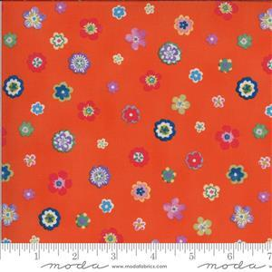 Moda Lulu in Orange Multi Floral Fabric 0.5m
