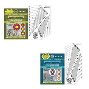 Robin Ruth Fat Robin & Skinny Robin 16 Point Mariner's Compass Book and Ruler Bundle. Save £10