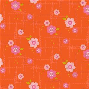 Spectrum In Orange Fabric 0.5m