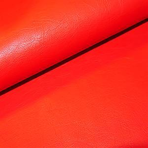 50% Viscose 50% PU Leather Fabric In Red 0.5m