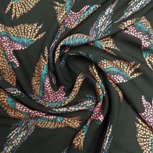 Gliding Corella Midnight Viscose Fabric 0.5m