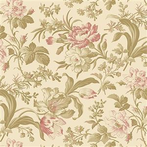Wildflower Woods in Creame Floral Fabric 0.5m