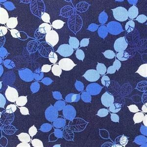 Lapis Leaves 4 Blue Fabric 0.5m