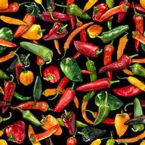 Dan Morris Fresh Peppers Fabric 0.5m