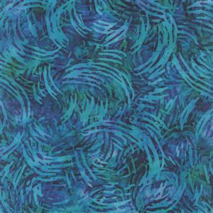 Dan Morris Tropicalia Blue Swirl Geo Fabric 0.5m