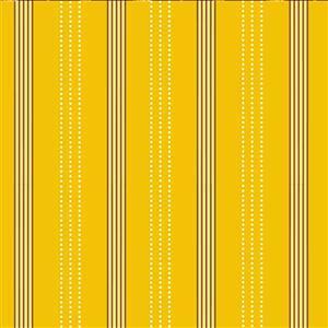 Zoo Around Modern Stripes On Yellow Fabric 0.5m