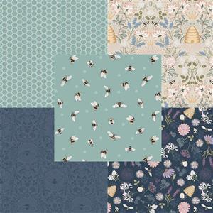 Lewis & Irene Queen Bee Aqua Fabric Bundle (2.5m)