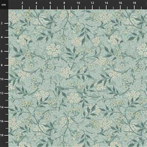 William Morris Granada in Jasmine Sky Fabric 0.5m