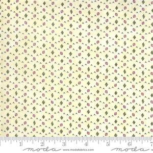 Moda Violet Hill in Cream Spotted Fabric 0.5m