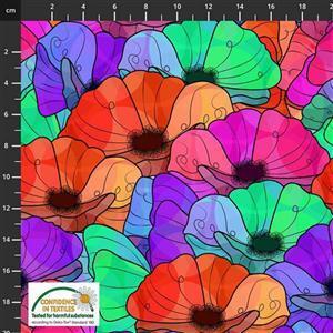 Medinilla Monkey Flower Heads Multi Fabric 0.5m