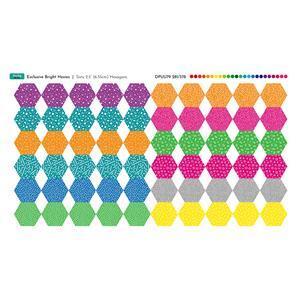 Bright Hexies Fabric Panel: 70cm x 38cm. Exclusive