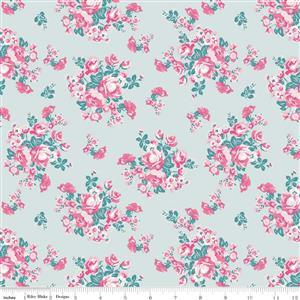 Riley Blake's Floral Mint Fabric from Chloe & Friends Range 0.5m