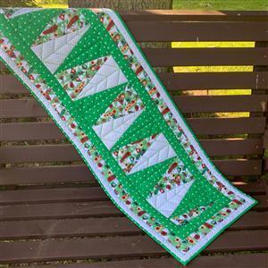 Allison Maryon's Green Penguin Christmas Table Runner Kit