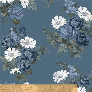 Camilla Bouquets on Copen Fabric 0.5m