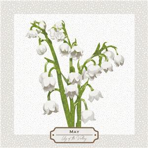 May Flower of the Month Lilly of the Valley (140cm x 41cm)
