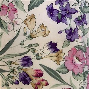 Country Floral Multi Flowers on Cream Fabric 0.5m Exclusive