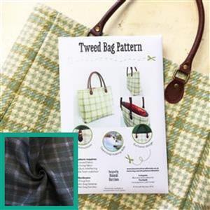 Herringbone Tweed Bag Kit: Instuctions, Fabric (1m) & Handles