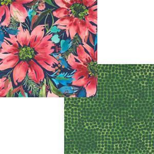Moda Starflower Christmas Navy Floral Fabric Bundle (1m)