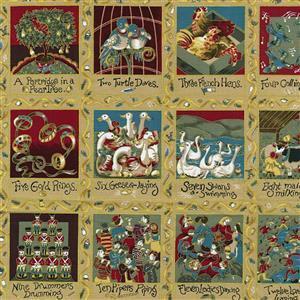 Twelve Days of Christmas Panel 0.6m