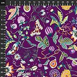 Forage Flowers in Purple Fabric 0.5m