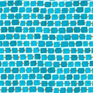 Whimsy Daisical in Blue Daisy Chain Fabric 0.5m