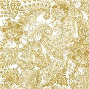 Riley Blake Castkata Classic Floral Gold Fabric 0.5m