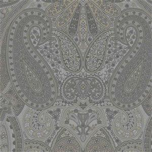 Country Soiree Paisley on Silver Fabric 0.5m