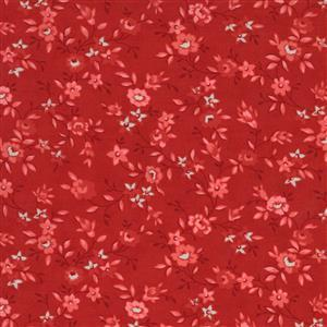 Moda Roselyn in Deep Red Floral Fabric 0.5m