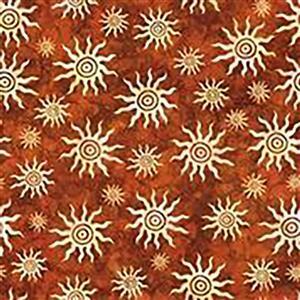 Dan Morris South West Reflections Autumnal Sun Burst Fabric 0.5m