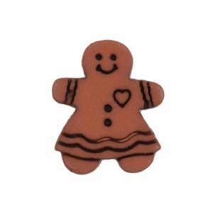 Gingerbread Woman Button 18mm (25pc)