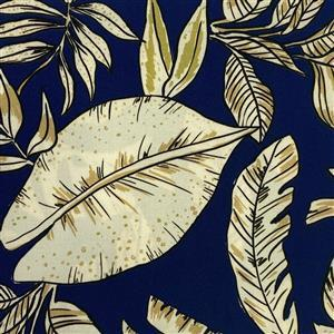 Capri Palms Viscose Fabric 0.5m