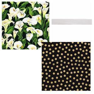 Elegant Lilies Make Up Kit Roll Bundle: Fabric (1m) & Elastic