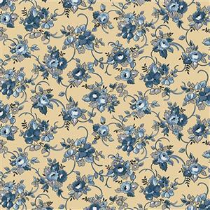 Riley Blake Delightful Floral Gold Fabric 0.5m